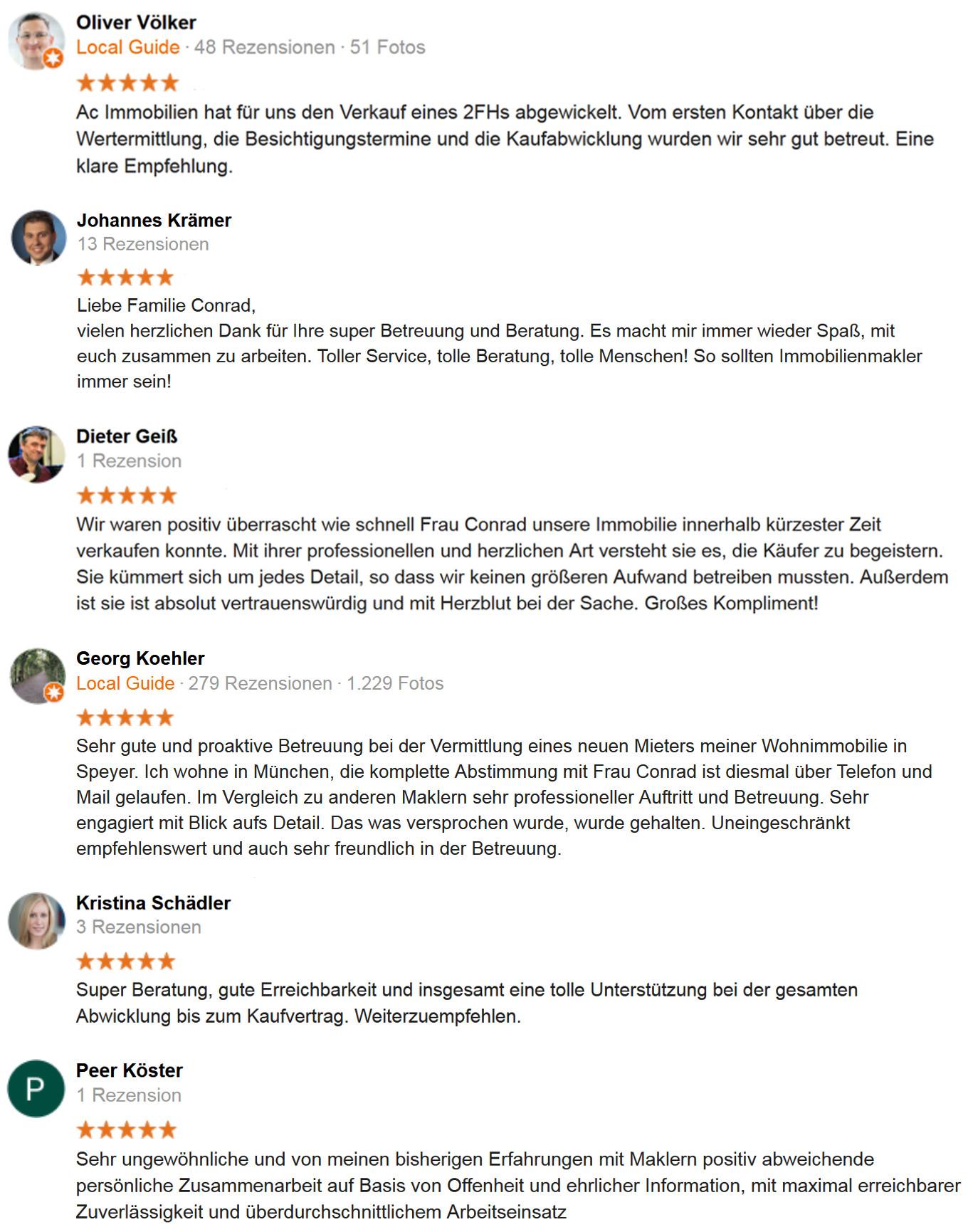 Kundenmeinungen - Google Rezensionen